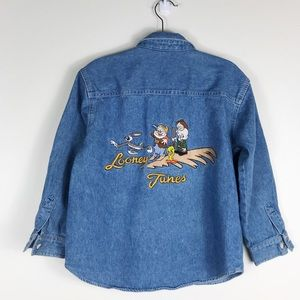 Vintage Acme Kids Looney Tunes Jean ButtonUp Shirt
